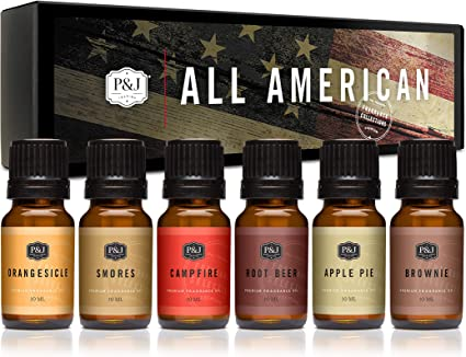 Amazon Com P J Trading All American Fragrance Oil Set For Candle Making Soap Making Slime Diffusers Home And Crafts Health Personal Care