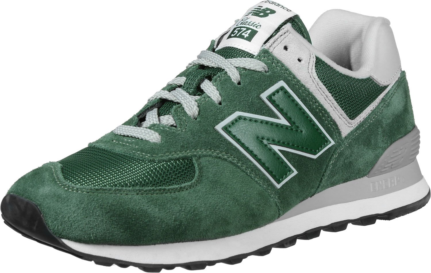 newest d67be c8134 New Balance Mens ML574 Green Suede Mesh Trainers 8.5 US