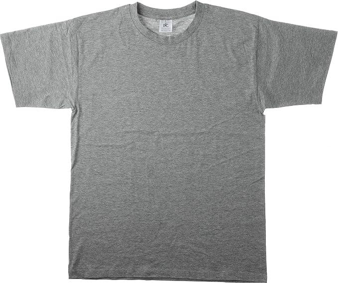 B&C Exact 150 Kurzarm-Baumwolle T-Shirt-Burgundy-Größe 52 EU (