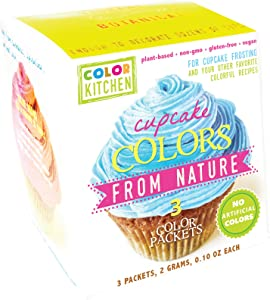 ColorKitchen Cupcake Color Set of 3 (Pink, Blue, Yellow), .24 ounce, Food Coloring made with Plant-Based Ingredients and Naturally Sourced…