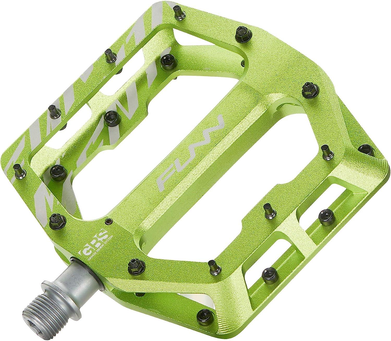 Adjustable Grip 9//16-inch CrMo Axle Wide Platform Bicycle Pedal Funn Funndamental Flat BMX//MTB Bike Pedal Set