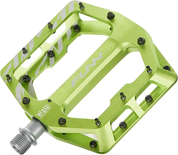 Funn Funndamental Flat BMX/MTB Bike Pedal Set - Wide Platform Bicycle Pedal
