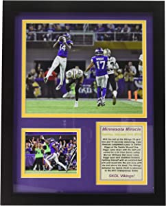 Legends Never Die Minneapolis Miracle - Minnesota Vikings NFL Divisional Playoff 2018 Collectible | Framed Photo Collage Wall Art Decor - 12