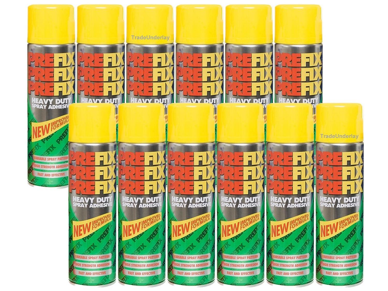 preFix Heavy Duty Spray Adhesive 12 x 500ml aft