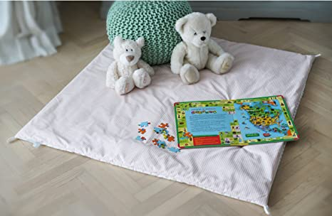 COZY CULTURE Teepee Tent Play Mat u2013 Kids Floor Mat for Indoor Outdoor Playhouse u2013 Machine : blanket tent floor - memphite.com