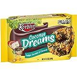 Keebler Fudge Stripes Cookies, Coconut Dreams, Flavors of Fudge, Caramel and Coconut, 8.5 oz Tray - 2 Pack
