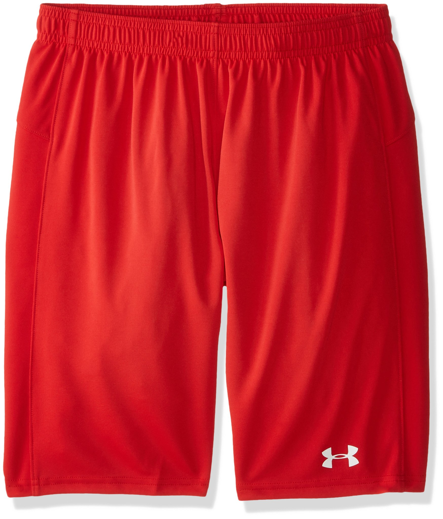 Under Armour Boys' Golazo Soccer Shorts, Red (600)/White, Youth Large by Under Armour