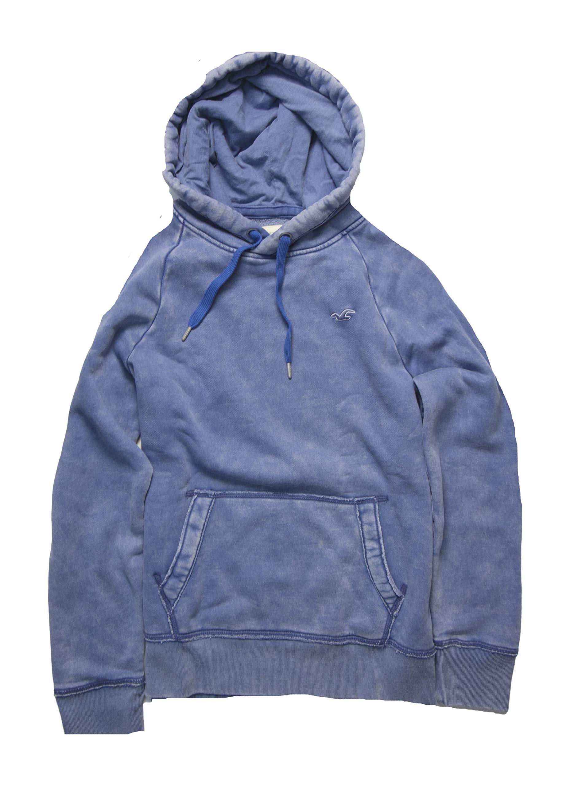 Hollister Men's Hoodie Sweatshirt Pullover (M, Blue 5005) by Hollister