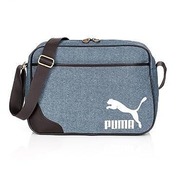 26e5c7802e Puma Shoulder Bag Originals Reporter, Denim, 40x28x12 cm, 12 liters:  Amazon.co.uk: Luggage