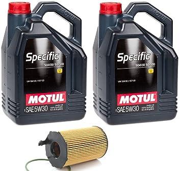 KIT SERVICIO MOTUL SPECIFIC 50400 50700 5W30 10 lts + filtro de aceite ORIGINAL 059 198 405 para motores 3.0TDi de AUDI-VOLKSWAGEN-PORSCHE: Amazon.es: Coche ...