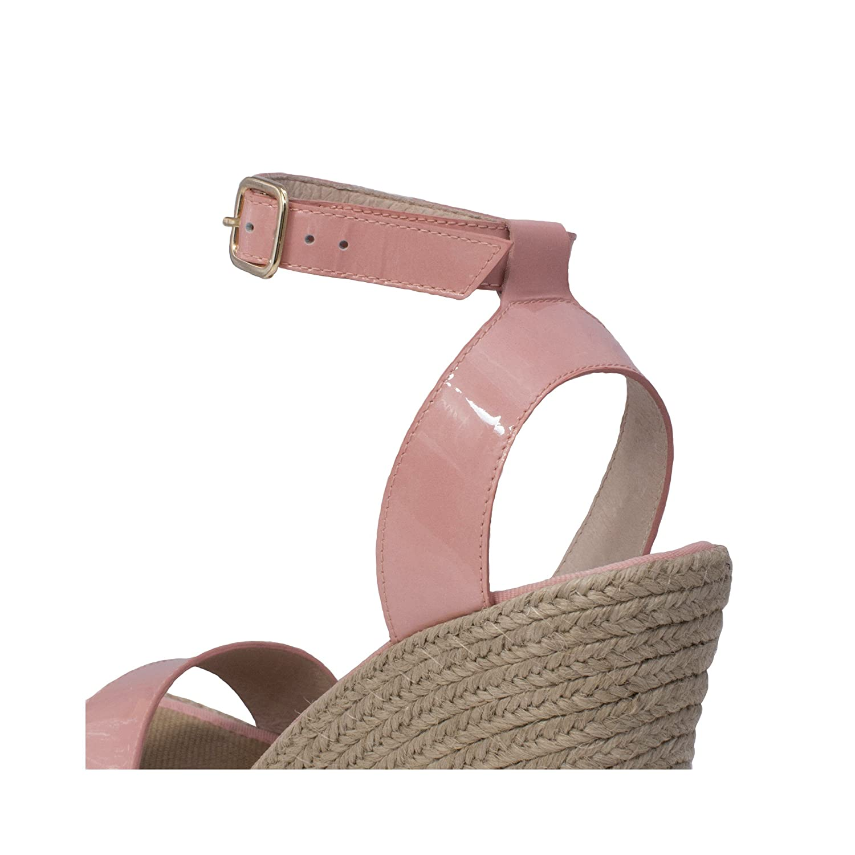 MTBALI Damen- Sandalen Alpargata mit Keilabsatz, Damen- MTBALI Modell Santa Rosa Pink 686f5c