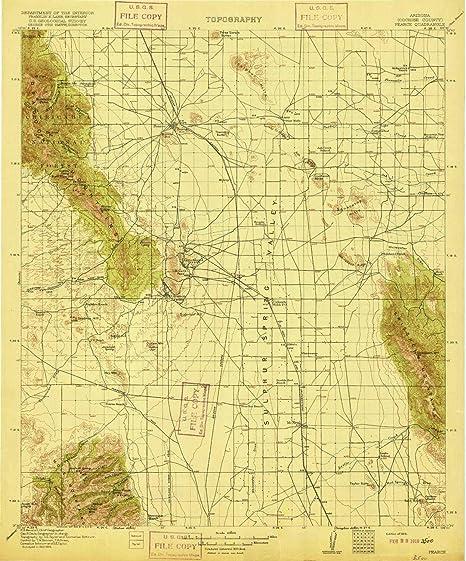 Pearce Arizona Map.Amazon Com Yellowmaps Pearce Az Topo Map 1 125000 Scale 30 X 30