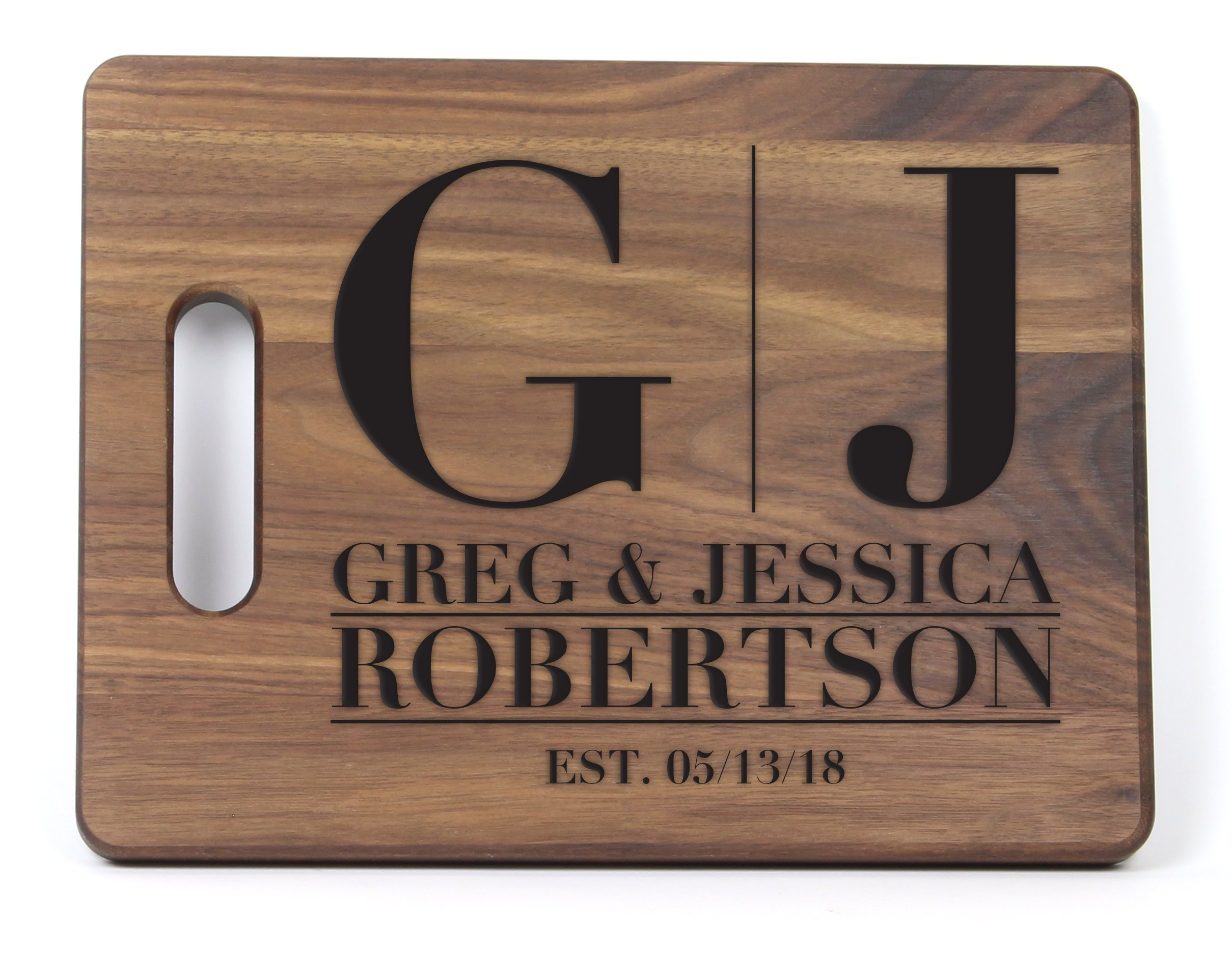 personalized cutting board choose your wood newlyweds christmas gift bridal shower wedding anniversary gift engraved fast shipping