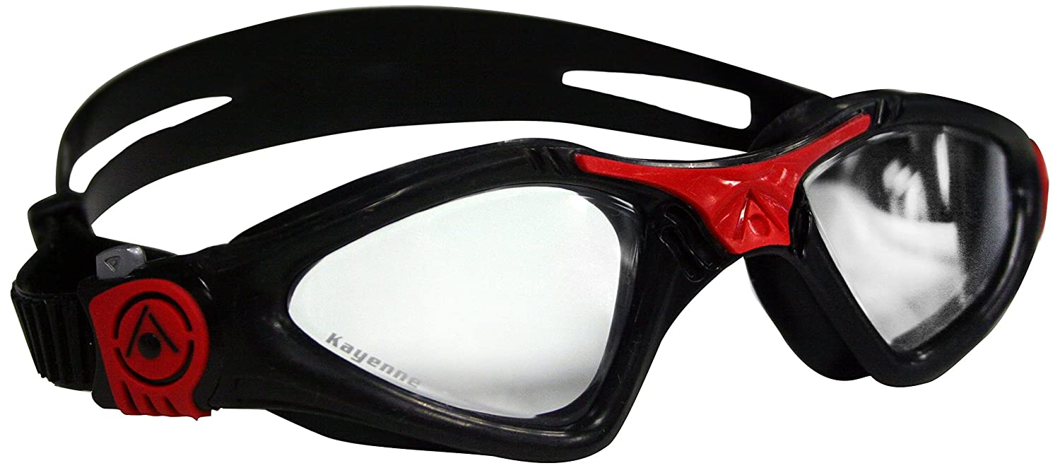 ae3d0259379 Aqua Sphere Unisex Adult Kayenne Small Fit Open Water Swimming Goggles,  Black/Red, X-Large: Amazon.co.uk: Sports & Outdoors
