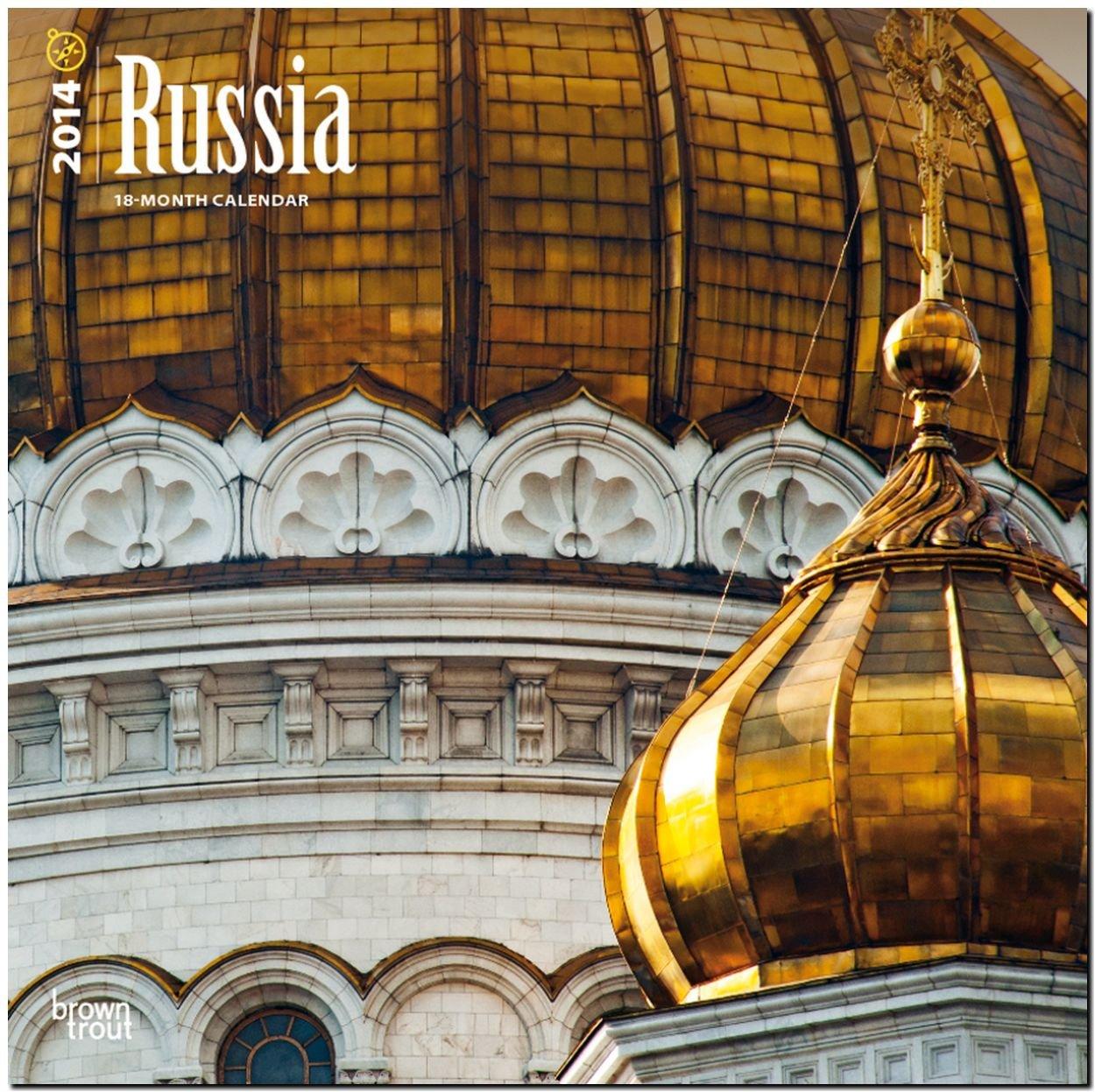 Russia 2014 - Russland: Original BrownTrout-Kalender [Mehrsprachig] [Kalender]