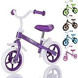 LCP Kids TRAX Kinder Laufrad als Lern Fahrrad ab 2 Jahren - 10 Zoll, Farbe Violet