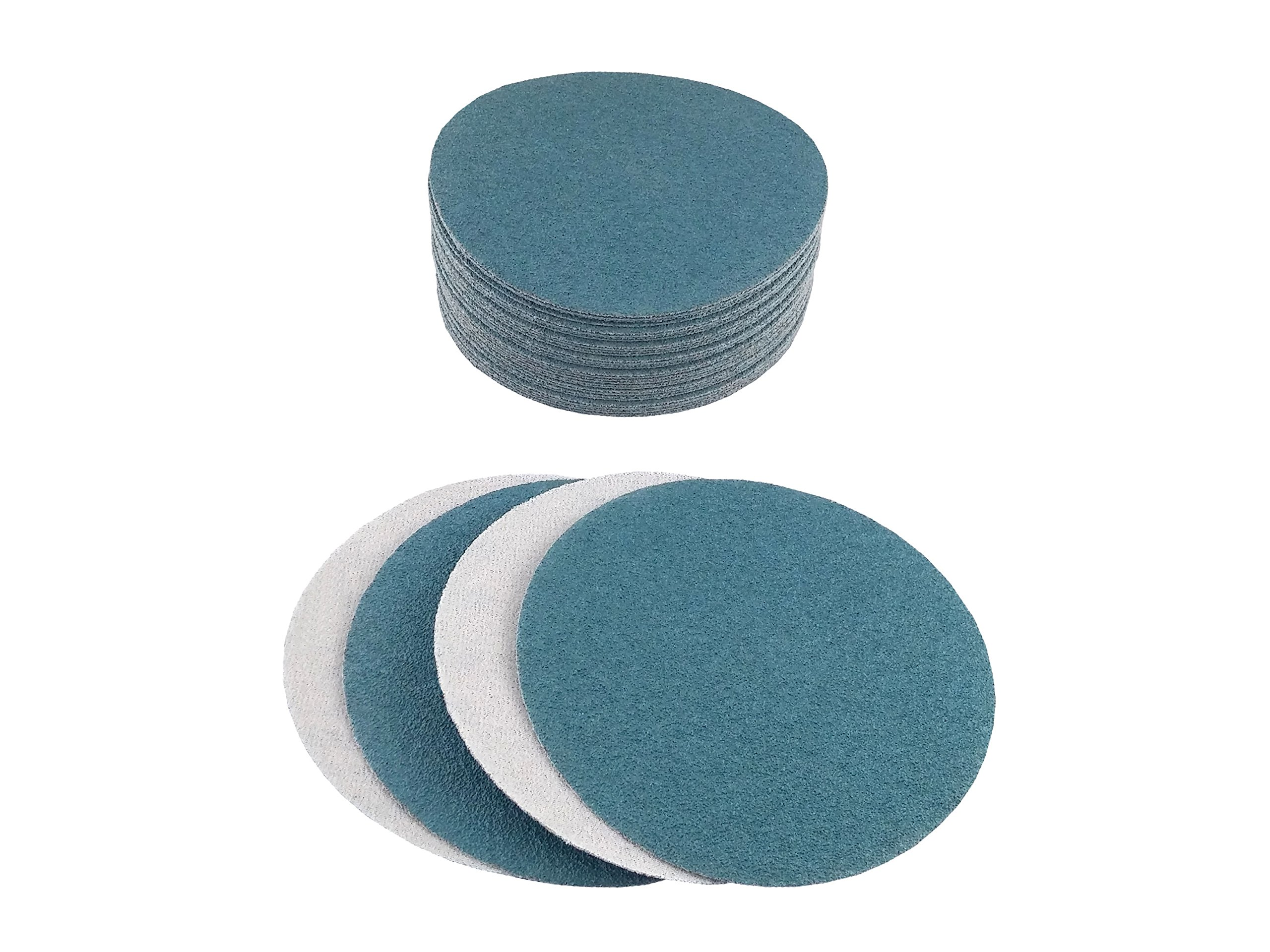8'' Blue Zirconia Cloth Hook and Loop Sanding Discs (50 Pack, 80 Grit) by Perfect Sanding Supply by Abrasive Resource (Image #4)