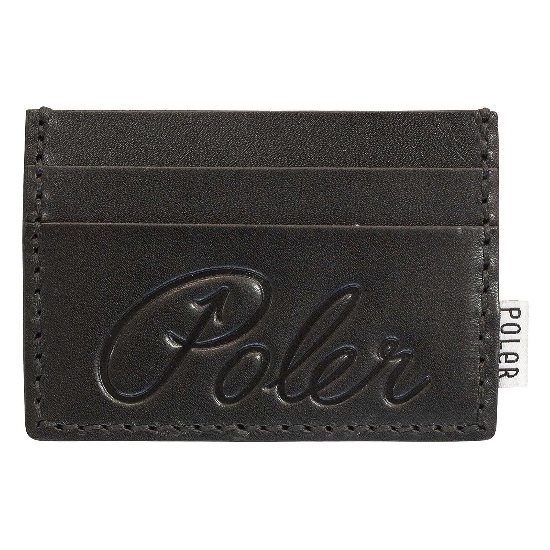 Poler Men's Cardclops Leather Wallet Black One Size Poler Young Mens Child Code 33800004