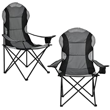 Casa En Camping Pliante Kit 2 ®Chaise NoirgrisAmazon De pro b6yfg7