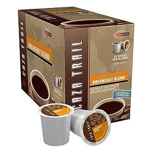 Caza Trail Coffee, Breakfast Blend, 24 Single Serve Cups
