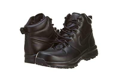 a67c771f Nike ACG Manoa Leather Mens hi top Boots 454350 Sneakers Shoes (US 8.5,  Black Black Black 003)