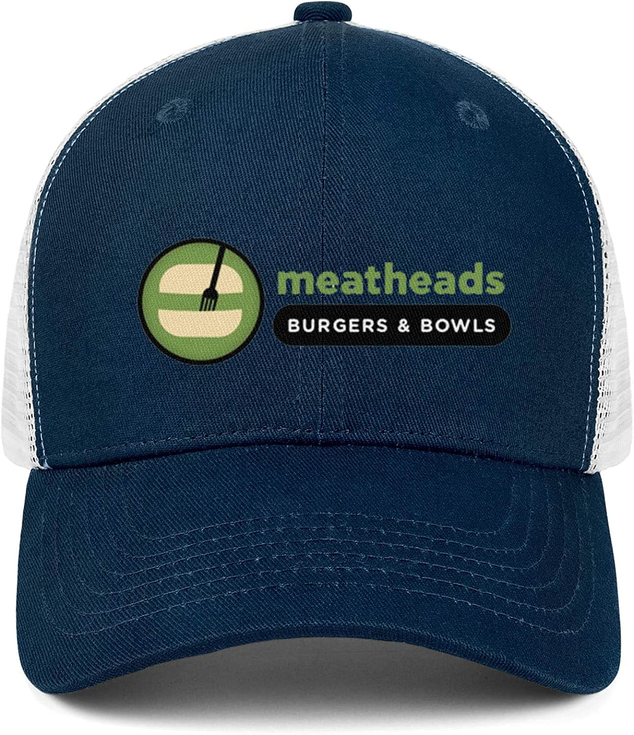 WintyHC Meatheads Burgers and Fries Sign Cowboy Hat Dad Hat Adjustable Fits Skull Cap