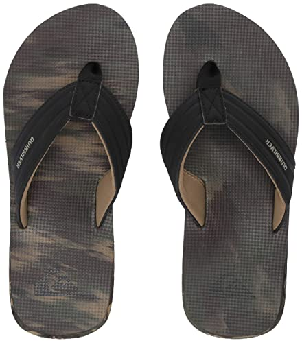 4992c21d0b17 Quiksilver Men s Island Oasis Sandal Black Brown Green 6(39) ...