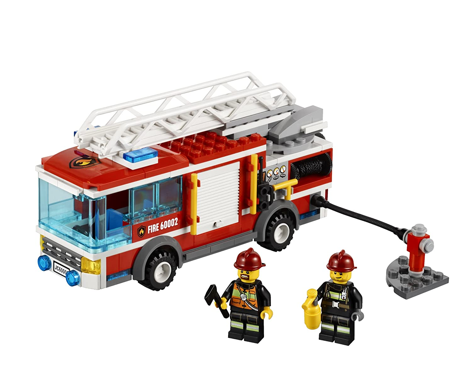 amazon com lego city fire truck 60002 toys games