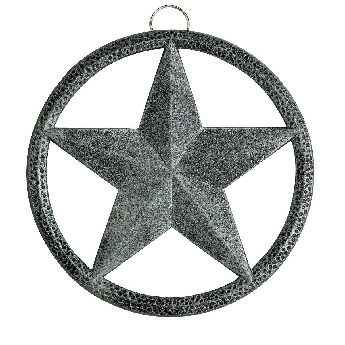 Old Dutch Round Star Trivet, 8-Inch, Antique Pewter