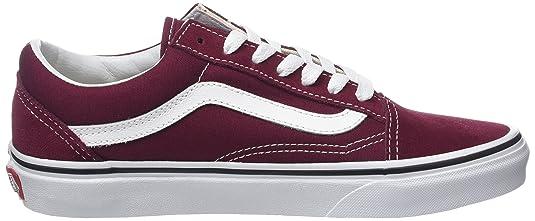 Vans Old Skool Suede/Canvas, Sneaker Donna, Rosso (Burgundy/True White), 34.5 EU