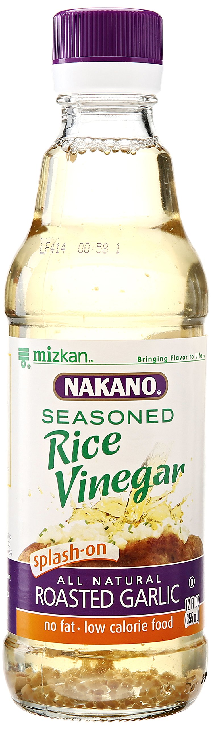 Nakano Seasoned Rice Vinegar with Garlic, 12 oz.