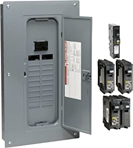 Square D by Schneider Electric HOM2040M100PC1AVP Homeline 100-Amp 20-Space 40-Circuit Indoor Main Plug-On Neutral Breaker Load Center- Value Pack With Cafi Breakers