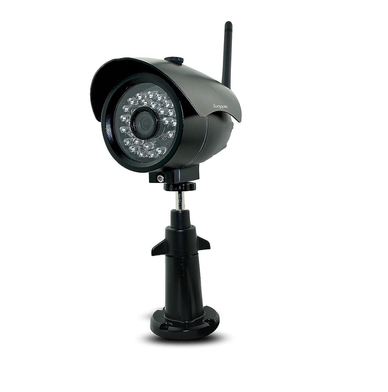 Sumpple IPカメラ 屋外対応 1080P フルHD 内蔵 64G SD カード IP66防水防塵 屋内/屋外 家庭/事務所 IP66防水 暗視機能 24時間録画 動体検知 夜間暗視 遠隔操作 IOS Android PC対応 ブラック B0798NBPKN 1080P-64G|ブラック ブラック 1080P-64G