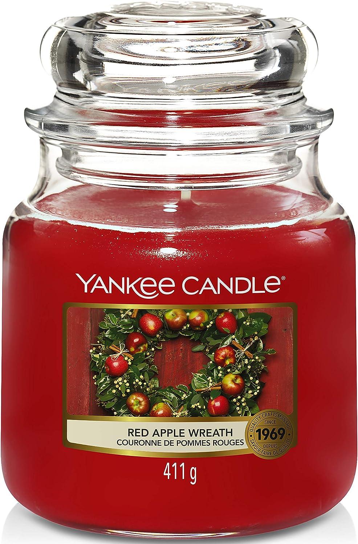Yankee Candle Red Apple Wreath Medium Jar Candle