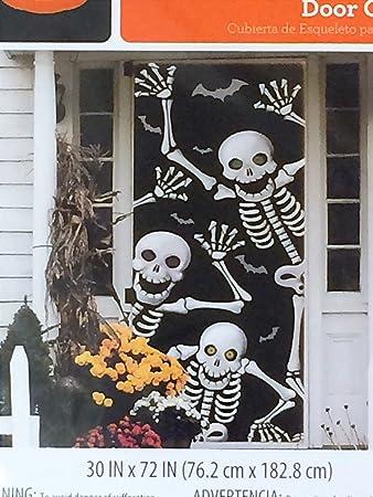 Skeleton Door Cover - Halloween Wall Decoration & Amazon.com: Skeleton Door Cover - Halloween Wall Decoration: Toys ... pezcame.com