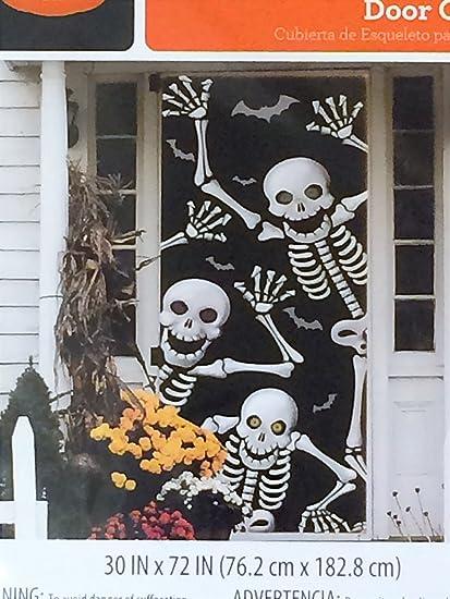 Skeleton Door Cover - Halloween Wall Decoration & Amazon.com: Skeleton Door Cover - Halloween Wall Decoration: Toys ...
