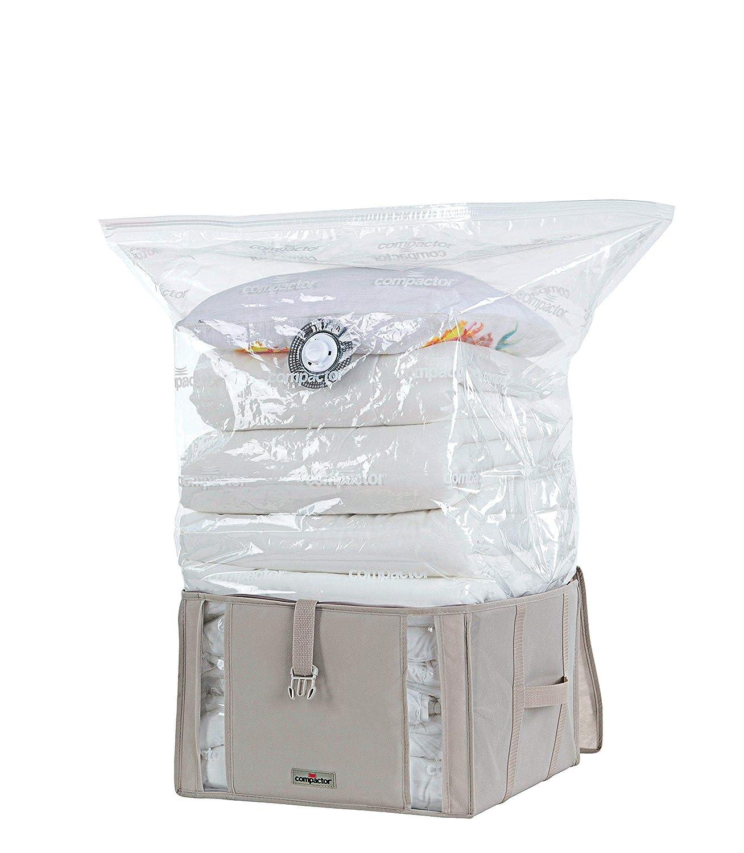 Compactor Bolsa AHORRAESPACIO, Cartón, Beige (Life 2.0), M (125 l)
