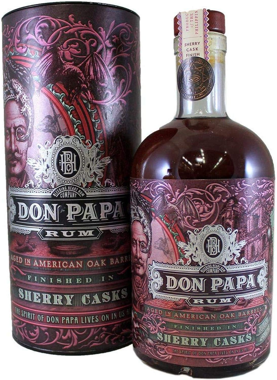Don Papa Rum Sherry Casks + GB 45,00% 0.7 l.: Amazon.es ...