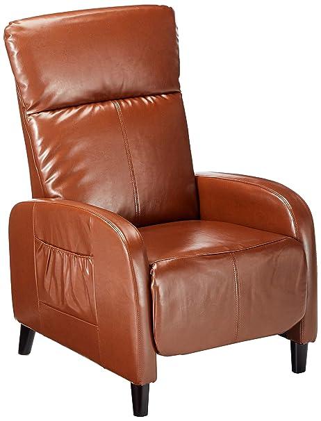 Awe Inspiring Christopher Knight Home Trenton Hazelnut Brown Leather Recliner Machost Co Dining Chair Design Ideas Machostcouk