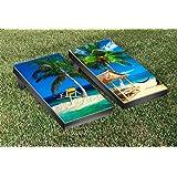 Tropical Beach Cornhole Game Set Version 1