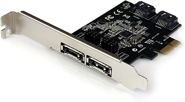Canada 1+1-Port SATA//eSATA 6Gbps PCI Express x1 Controller Card I//O Crest