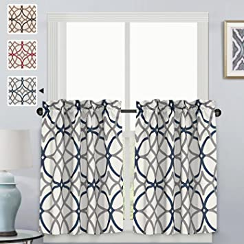 Amazon.com: H.VERSAILTEX - Cortinas con estampado geométrico ...