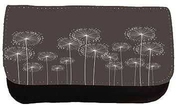 Lindo estuche negro hacer Ojalá flores bolso del lápiz ...