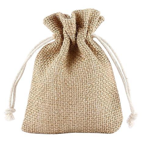 Grenhaven - SET 12x Saco de Joyas, bolsitas de yute, bolsa de tela, bolsas sacos de yute, Bolsas de Regalo, Bolsa De La Joyeria, 13x10cm, Lino ...