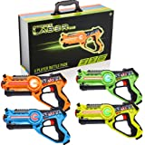 Strike Laser Tag 4 Multi-Player Pack & Deluxe Carry Case - Kids Infrared Gun Blaster Set