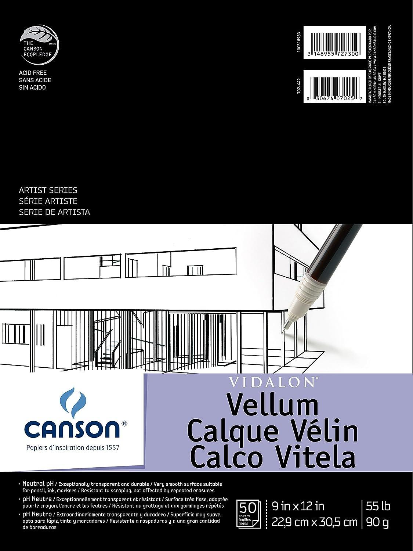 Canson Artist Series Vidalon Vellum Pad, 9