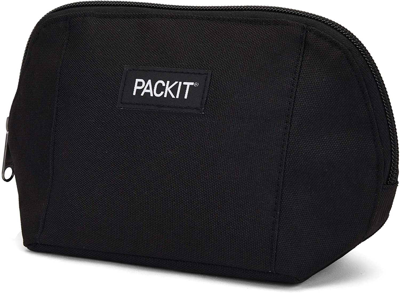 PackIt Freezable Snack Bag, Black