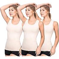 UnsichtBra Camisetas Mujer | Camisetas Tirantes Mujer | Pack de 3 Tops