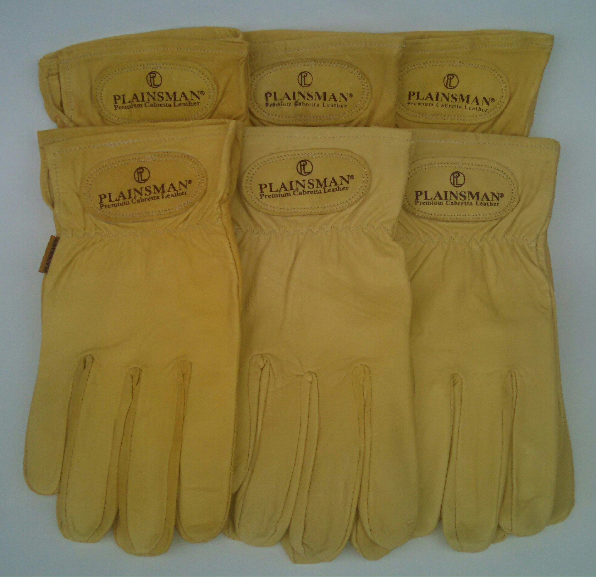 Plainsman Goatskin Cabretta Leather Gloves (6) Pairs Wholesale Bundle Medium by Plainsman (Image #1)