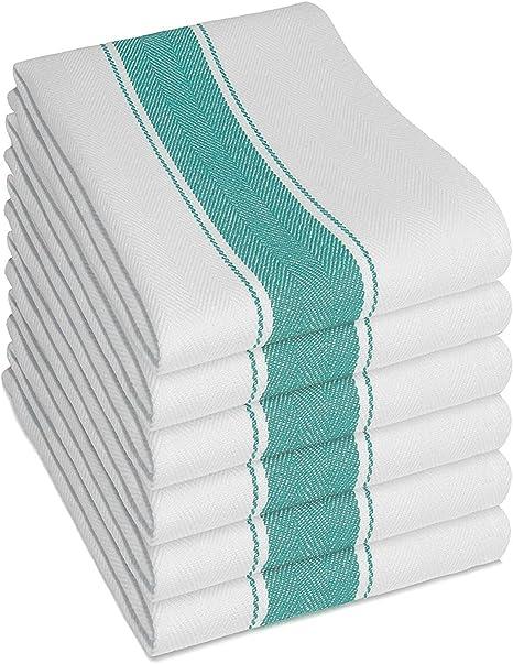 Thé serviettes en coton blanc Pack de 10 Cuisine Restaurant Bar Verre Chiffons